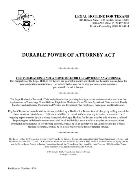 durable power of attorney act