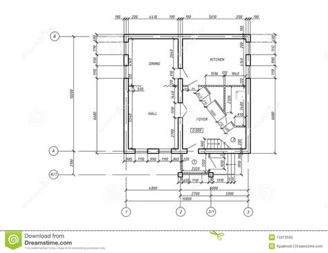 what is included in architectural plans cad architectural plan blueprint stock illustration