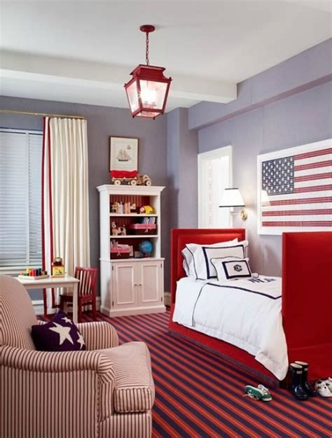 red blue room red white and blue toddler rooms