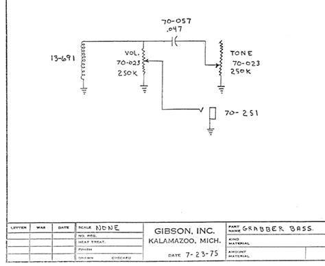 gibson grabber wiring schematics the 1978 gibson ripper