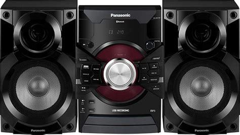 panasonic 350w bookshelf stereo system black sc akx18