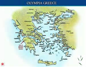 Olympia Greece Map by Olympia