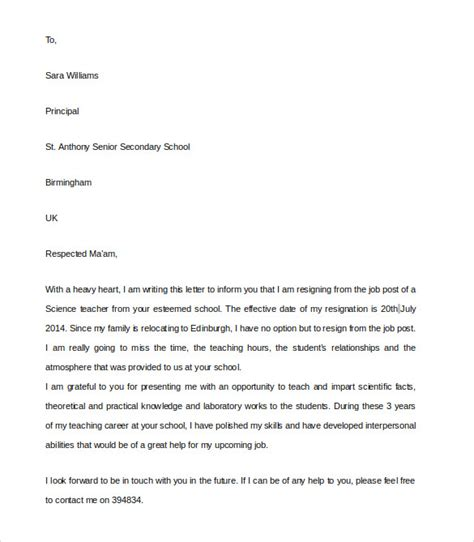 Resignation Letter Format Lecturer Resignation Letter 8 Documents In Pdf Word
