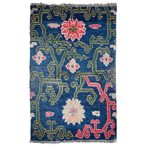 flower design rugs antique tibetan rug saddle top with lotus flower design at