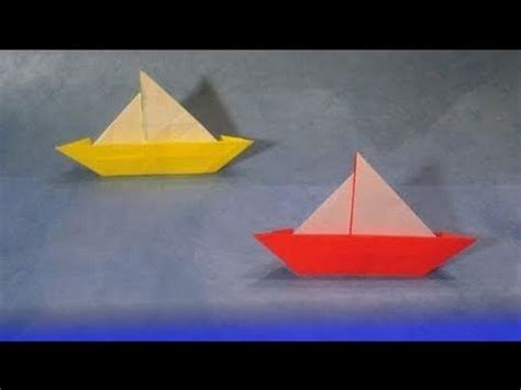 Simple Origami Boats - how to make an easy origami boat