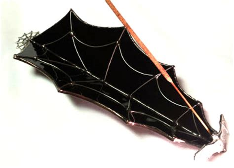 Spider Burners spiderweb incense burner fragile beauty stained glass