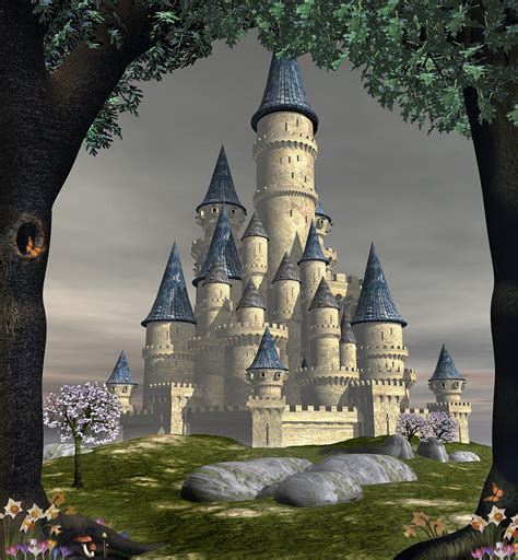 Posters Home Decor by Fantasy Castle Digital Art By David Griffith