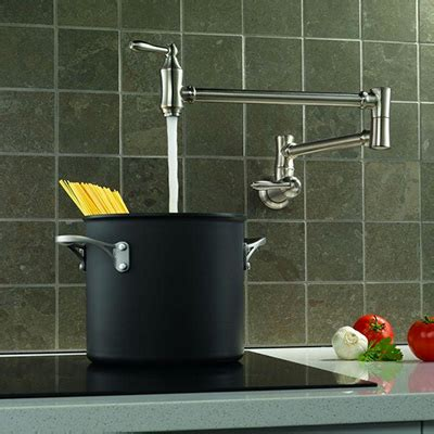 kitchen pot filler faucets kitchen faucets quality brands best value the home depot