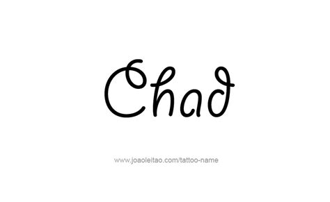 coloring pages of the name chad chad name tattoo designs
