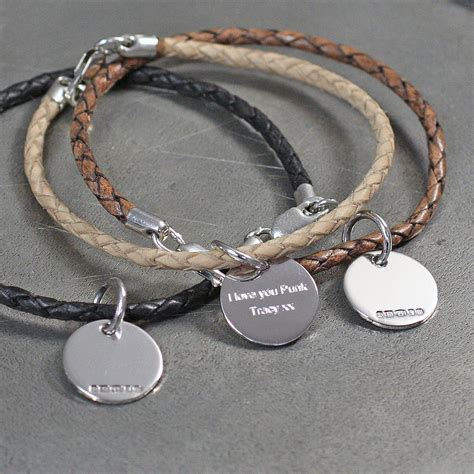 leather and silver friendship bracelets by hersey