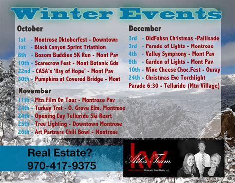 montrose colorado winter festival calendar
