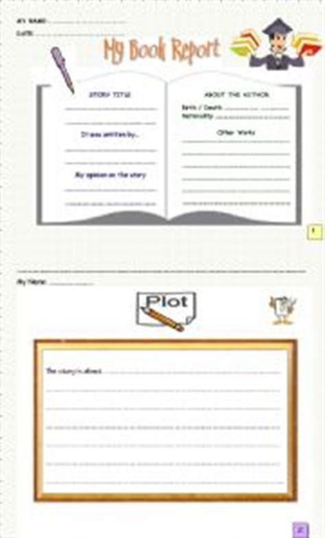 Parts Of Book Report In by Teaching Worksheets Book Report