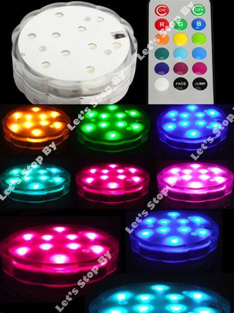 1 (10) LED Color Change SUBMERSIBLE Wedding Party Floral