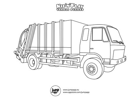 coloring page of trash truck garbage truck coloring page az coloring pages