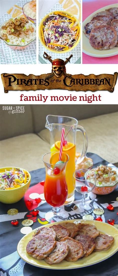 printable caribbean recipes pirates of the caribbean movie night sugar spice and