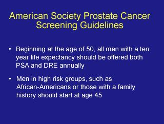 prostate screening guidelines straight no chaser prostate cancer screening