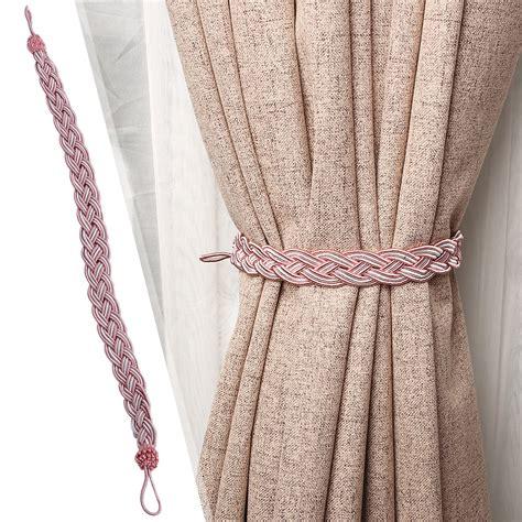 curtain rope holdbacks 1 pair of braided tiebacks tie back rope curtains