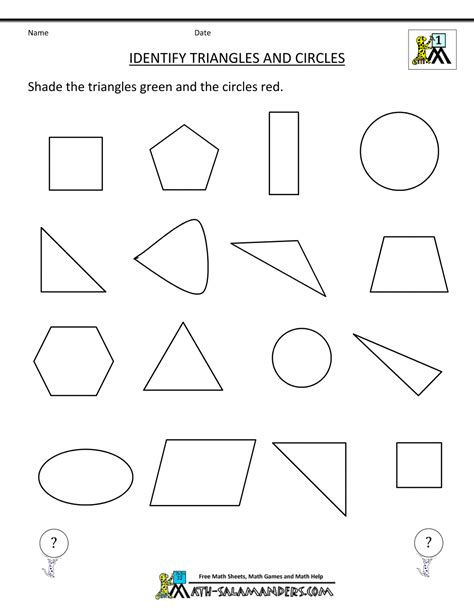 recognize preschoolers shapes worksheets recognize best