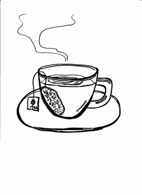 Vintage Tea Cup Coloring Page Coloring Pages Tea Coloring Pages