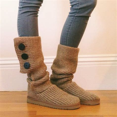 ugg knit boots with buttons knit button ugg boots