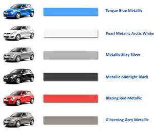 Maruti Suzuki Colours Maruti Suzuki Colour Range