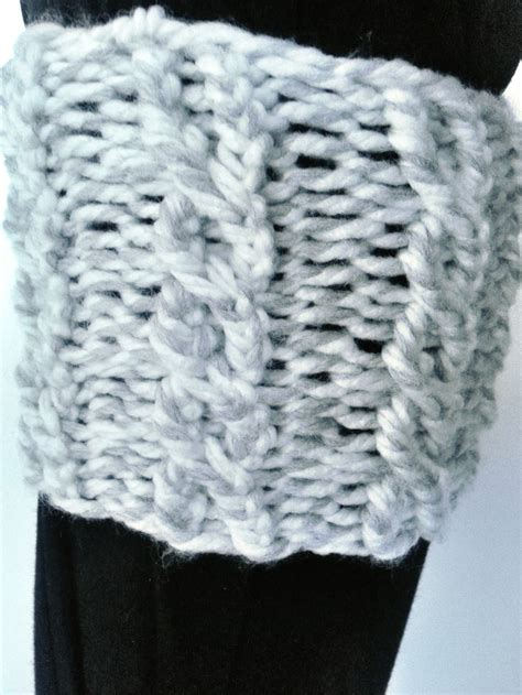 cable knit on loom loom knit cable boot cuffs pattern needles bows crafts
