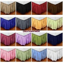 King Size Bed Skirts King Size 1000tc Cotton Dust Ruffle Bed Skirt