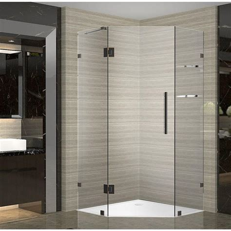 Angled Shower Door Aston Neoscape Gs 34 In X 34 In X 72 In Frameless Neo Angle Shower Enclosure With Shelves In