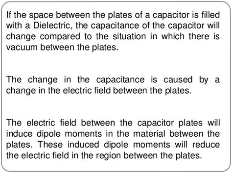 electric dipole capacitor capacitance and capacitor