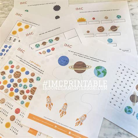 printable gratis indonesiamontessori yuk jalan jalan ke luar angkasa printable gratis planet