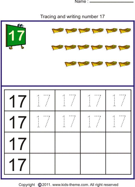 Number 17 Worksheet The Best And Most Comprehensive - number 3 tracing worksheets for preschool number 3