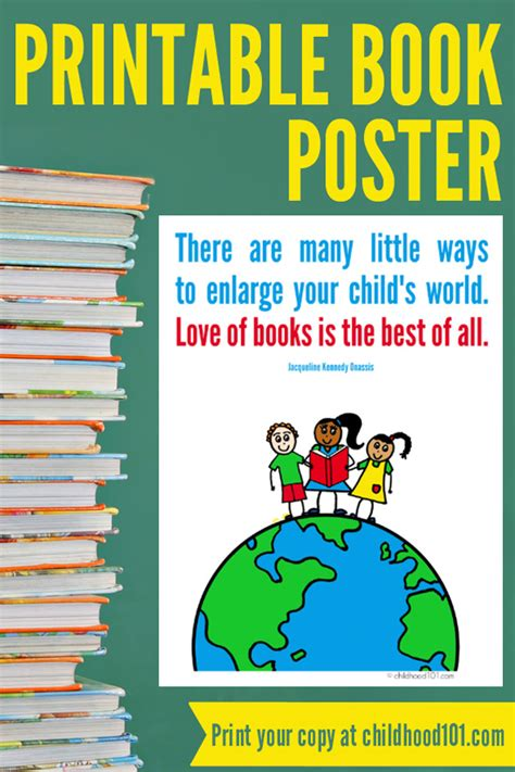 Printable Book Poster | reading quotes and pictures printable quotesgram