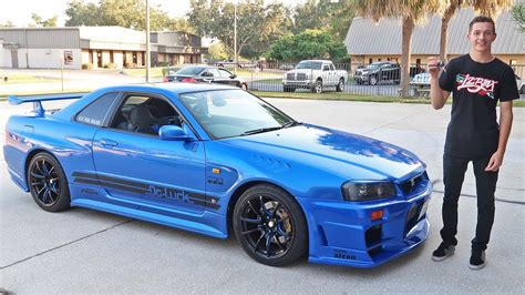 nissan skyline r34 custom driving an r34 skyline gtr in the usa youtube