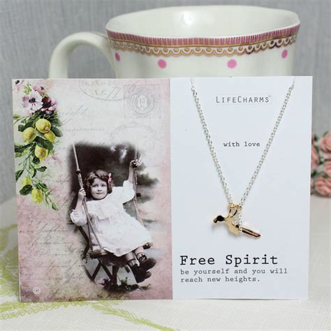 free spirit charm necklace by home