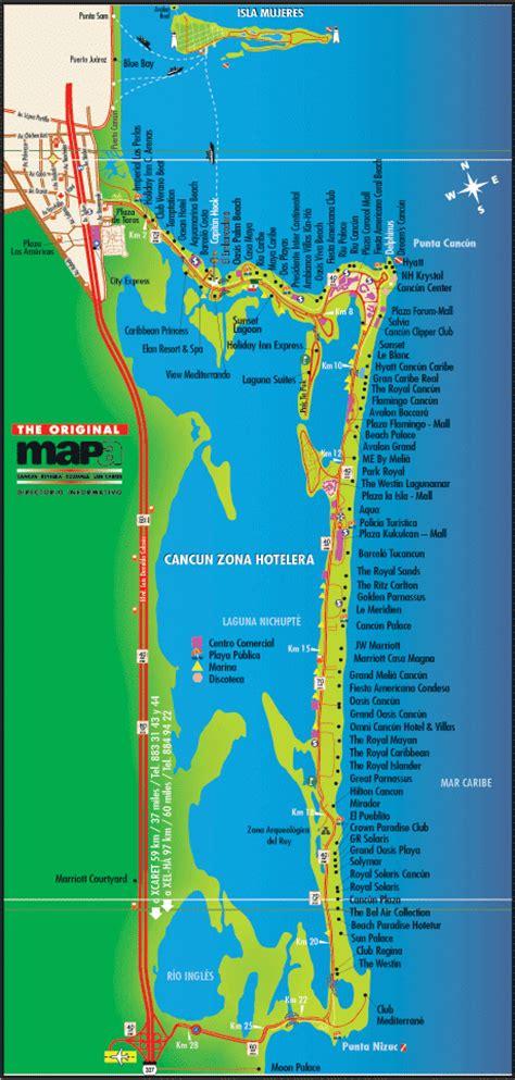 cancun tourist map cancun mappery
