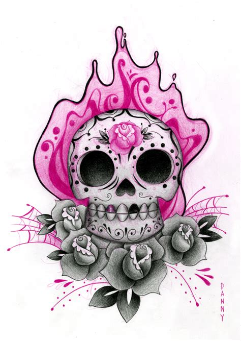 feminine sugar skull tattoo designs sugar skull designs