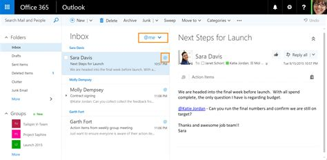 Office 365 Mail Focused Outlook On The Web Borrows S Like And S