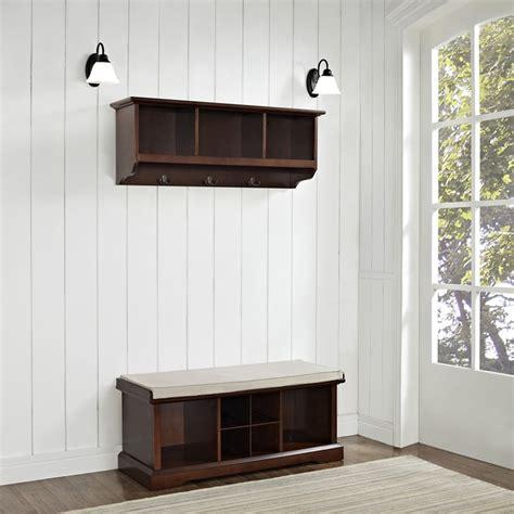 entryway bench and shelf set brennan 2 pieces entryway bench and shelf set mahogany