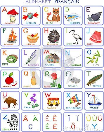 a b c to z in french french alphabet stock vector image 63566031
