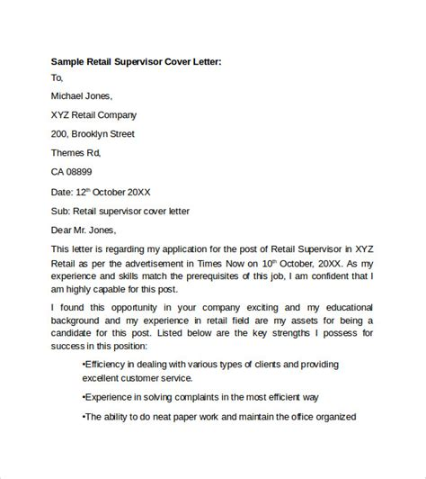 covering letter retail sle retail cover letter template 9 free