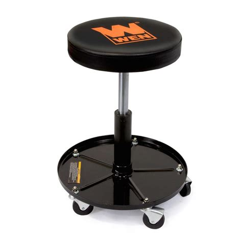 Mechanics Stools by Rolling Mechanic Stool Adjustable Garage Tool Chair Wen