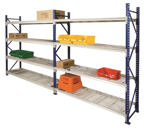 Home Shelving Systems Ultimate Longspan Shelving With Mesh Shelves All Storage