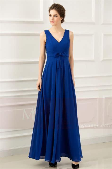 Robe Bustier Bleu Roi Mariage - robe de soir 233 e bleu roi empire l762