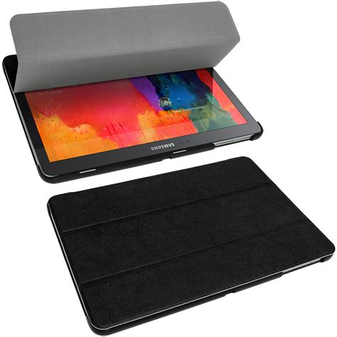 Leather Samsung Tab 3v igadgitz pu leather cover holder for samsung galaxy tab pro 10 1 sm t520 t525 tablet