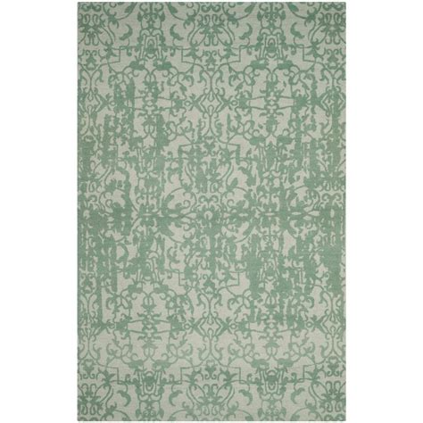 turquoise and gray area rug safavieh restoration vintage gray turquoise 4 ft x 6 ft area rug rvt101c 4 the home depot