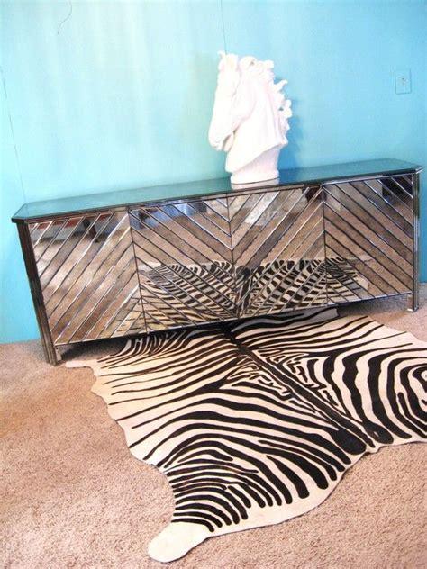 zebra credenza vintage mirrored credenza minus the zebra rug dream home