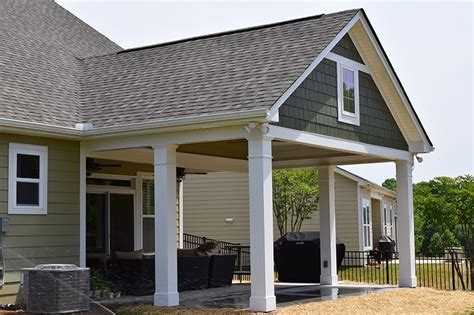 covered porch backyard and outdoor living gallery lake norman
