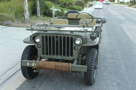 wwii ford jeep 1944 willys mb ww2 jeep wwii restored not ford gpw 1941