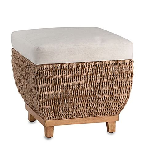 seagrass benches seagrass storage bench with cushion bed bath beyond