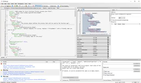 layout e editing my editor layout for working with json schema files